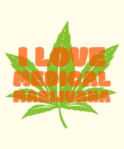 Marijuana T-Shirt Design Template with Dope Clip Art 1062