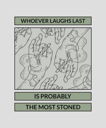 Weed T-Shirt Design Template with Marijuana Theme 1059