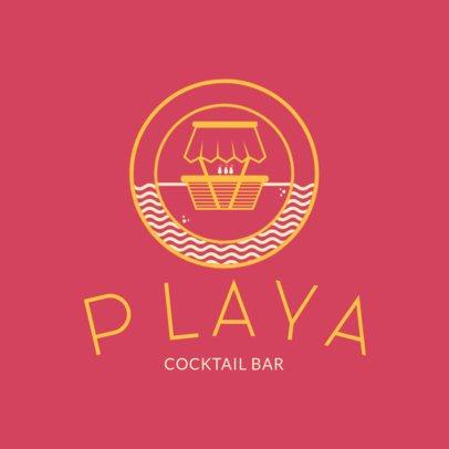Beach Club Logo maker for Cocktail Bars 1760d