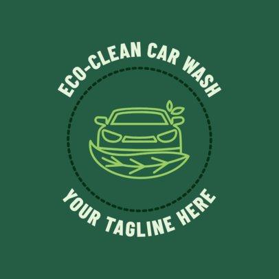 Car Wash Logo Maker for a Green Car Wash 1754e