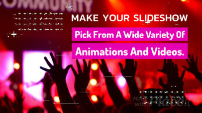 Modern Text on Video Slideshow Maker with Glitch Effects 431