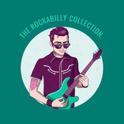 Album Cover Maker for a Rockabilly Collection 478e