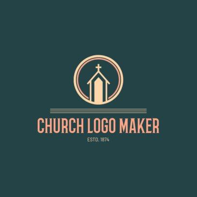 Church Logo Maker with Minimalistic Art 1772b