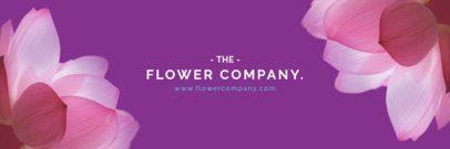 Twitter Header Maker for a Flower Company 1095e