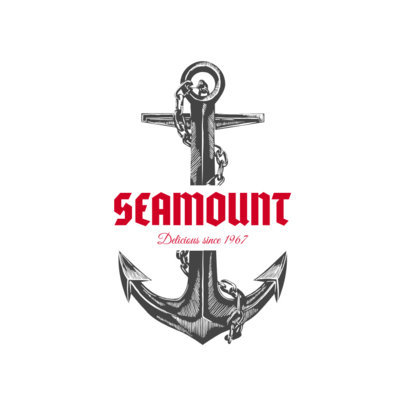Seafood Logo Design Template with Anchor Clipart 1799e