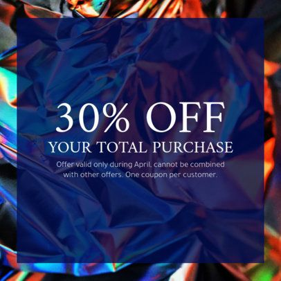 Purchase Discount Coupon Template 1022d