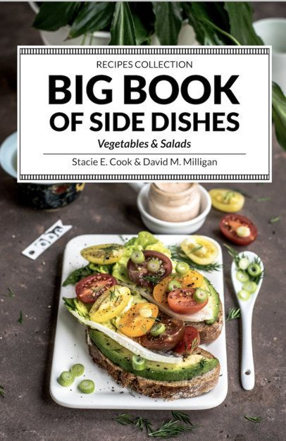 Book Cover Template for a Recipes Book 923
