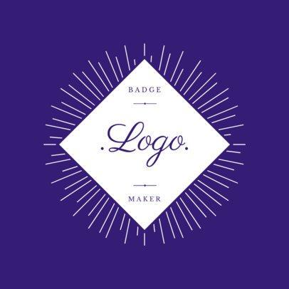 Diamond Shape Logo Maker with a Retro Design 1783d
