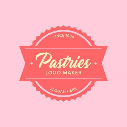 Pastry Logo Maker with Different Circular Badges 352c
