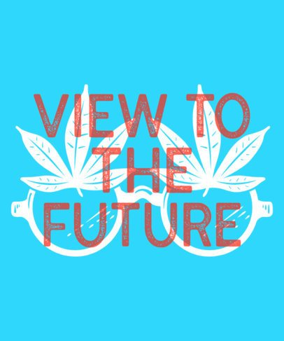 Weed T-Shirt Design Template with Funny Imagery 1062b
