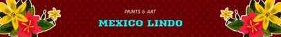 Colorful Etsy Banner Maker for a Mexican Crafts Shop 1118e