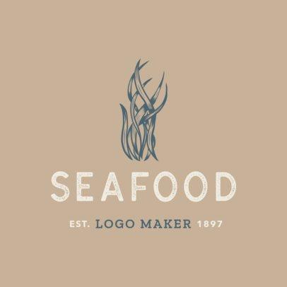 Simple Seafood Logo Maker 1797e