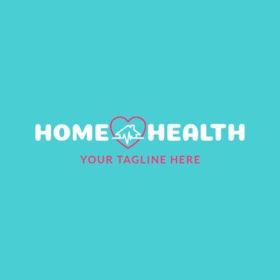 Simple Home Healthcare Logo Maker 1804