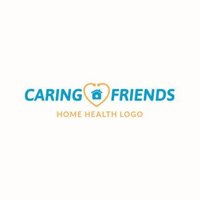 Home Health Care Logo Maker with a Minimalist Design 1804a