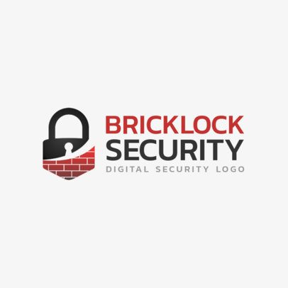 Security Company Logo Template with Lock Icons 1790b