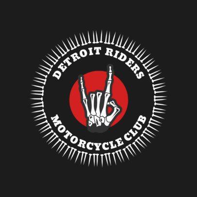 Biker Logo Maker with Cool Skeleton Hand Clipart 1763d
