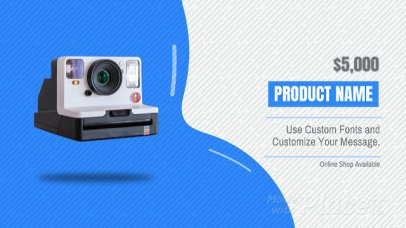 Slideshow Maker for an Animated Product Video with Minimalistic Transitions 1265