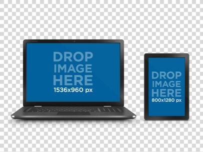 Tablet Vs Laptop Transparent