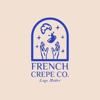 French Food Logo Maker for an Elegant Restaurant 1810e