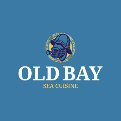 Seafood Logo Maker with a Fisherman Illustration 1801b