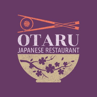 Japanese Food Logo Maker with Cherry Blossom Graphics 1821e