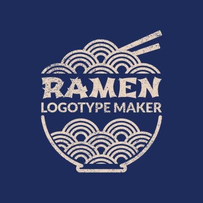Classic Japanese Food Logo Maker 1821d
