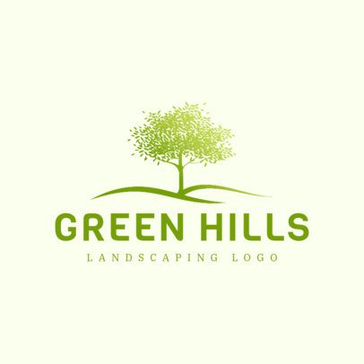 Gardening Services Logo Maker with a Tree Image 1423e