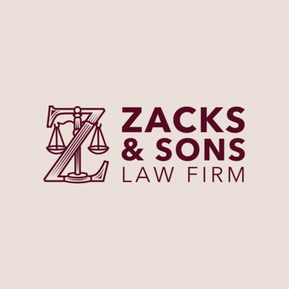 Law Firm Logo Generator with Justice Icon 1853b