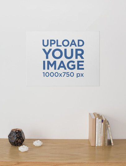 Print Canvas Mockup Featuring a Well Organized Desk 25862
