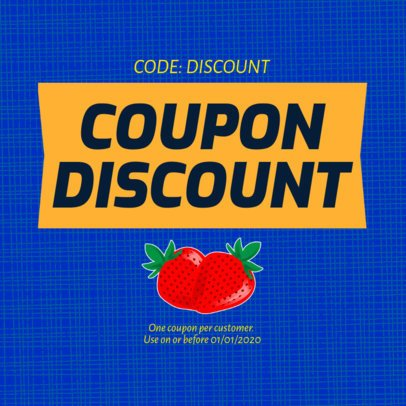 Coupon Design Template for a Limited-Time Offer 1029c