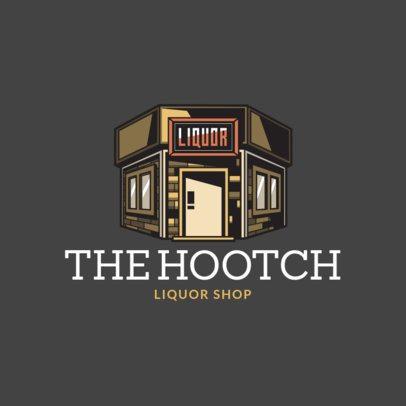 Logo Generator Featuring a Liquor Store Illustration Clipart 1815e