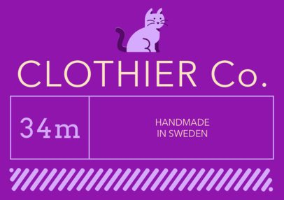 Colorful Clothing Label Design Template 1139a