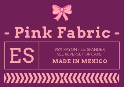 Horizontal Clothing Label Design Maker 1139b