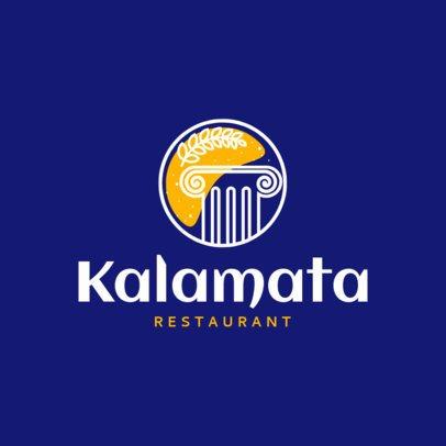 Greek Food Logo Maker for Traditional Mediterranean Cuisine 1913