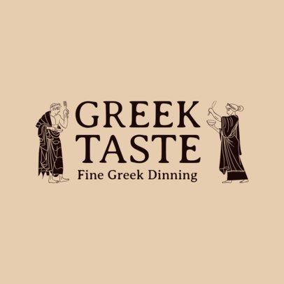 Mediterranean Restaurant Logo Maker for Fine Greek Dining 1911b