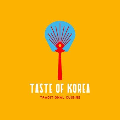 Simple Korean Food Logo Generator 1922c