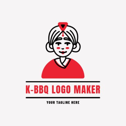 Logo Maker for a Korean Barbecue 1922d
