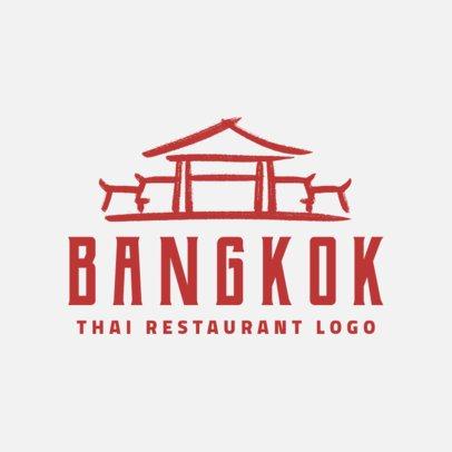 Thai Restaurant Logo Generator with Classic Typeface 1840d