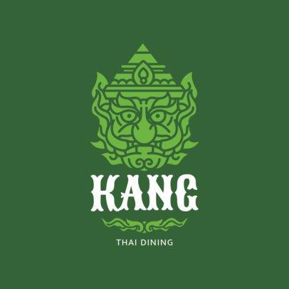 Thai Dining Logo Maker Featuring a Mask Clipart 1845d