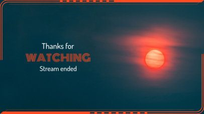 Basic Twitch Overlay Generator with a Thanks for Watching Message 1223c