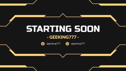 Futuristic Starting Soon Overlay Template for a Twitch Live Stream 1220d