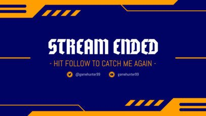 Stream Ended Overlay Maker for a Twitch Account 1220a
