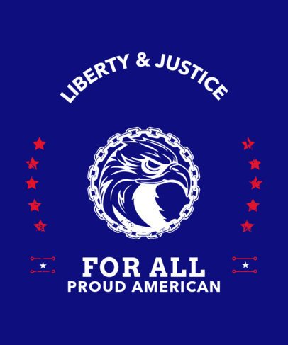 Patriotic T-Shirt Design Maker with an American Eagle 330f