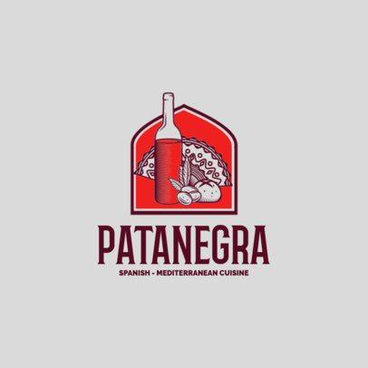 Mediterranean Restaurant Logo Maker with Spanish Cuisine Illustrations 1929e