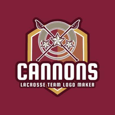 Lacrosse Logo Design Template with Star Graphics for a Women's Lacrosse Team 1594e