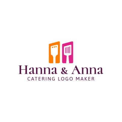 Catering Logo Generator with a Simple Design 1923b