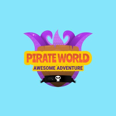 Adventure Gaming Logo Maker Featuring Pirate Graphics  1875a