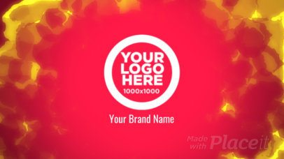 Intro Maker for Logo Reveals with Fire Motion Graphics 1470