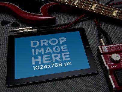 Black iPad Music Guitar