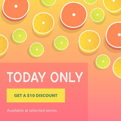 Coupon Design Template for a Limited Time Discount 1010e